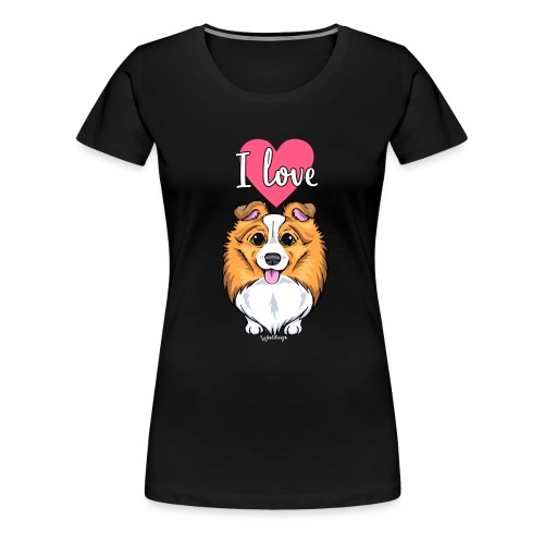 Sheltie Dog Love 2 - Women's Premium T-Shirt