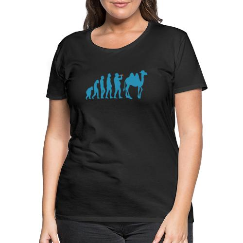evolution_chameau2 - T-shirt Premium Femme