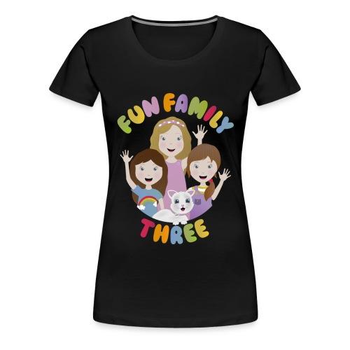 Fun Family Three Logo - Women's Premium T-Shirt