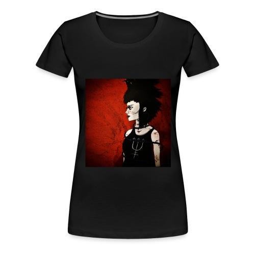 Raven Lady painting - Women's Premium T-Shirt
