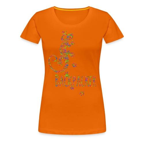 Backpacker - Running Ethno Gecko 3 - Frauen Premium T-Shirt