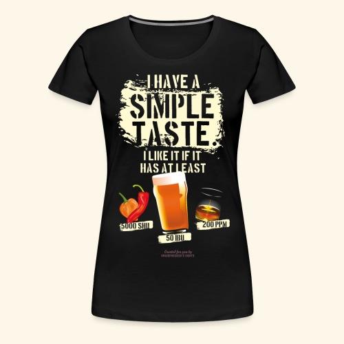 Whiskey Chili Craft Beer SHU IBU PPM - Frauen Premium T-Shirt
