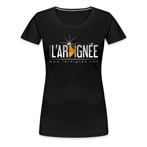 L'Araignée, le logo clair pour fond foncés - T-shirt Premium Femme