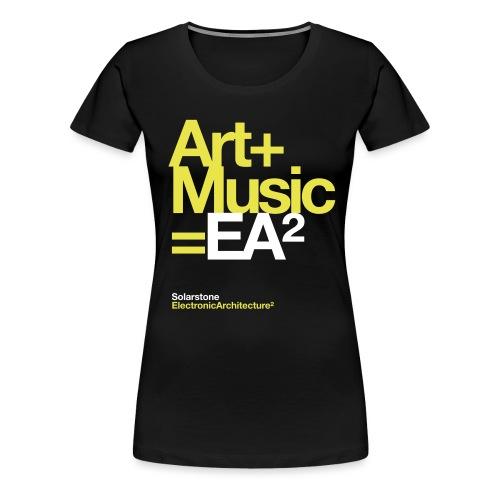 ssea2yelowwhiteonblacktshirt - Women's Premium T-Shirt