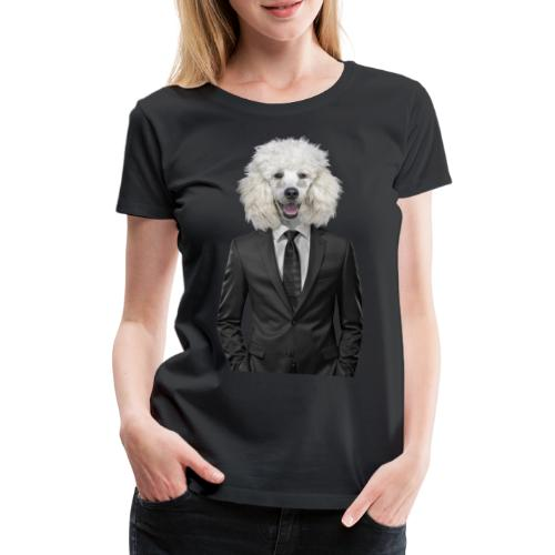dog   poodle suit   animal in suit - Vrouwen Premium T-shirt