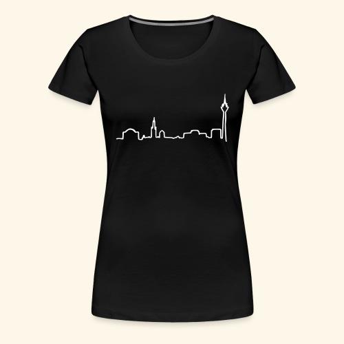 skyline duesseldorf - Frauen Premium T-Shirt