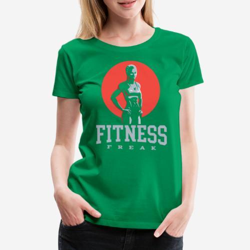 fitness freak gym - Frauen Premium T-Shirt