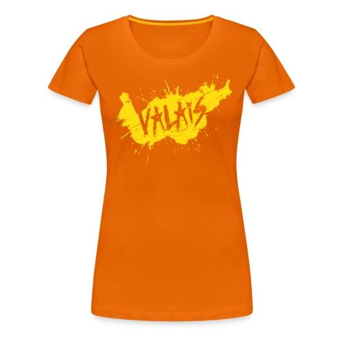 VALAIS GRUNGY GELB - Frauen Premium T-Shirt