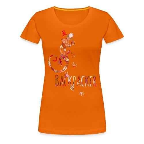 Backpacker - Running Ethno Gecko 4 - Frauen Premium T-Shirt