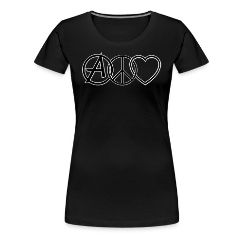 ANARCHY PEACE & LOVE - Women's Premium T-Shirt