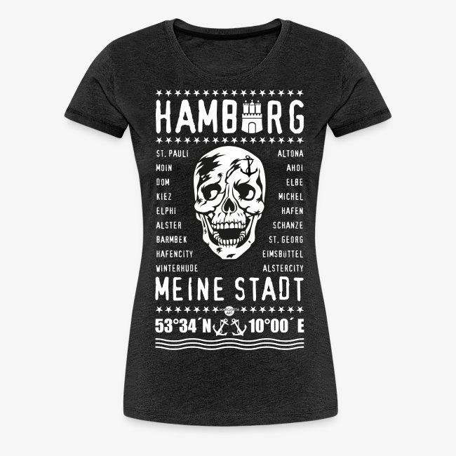 84 Skull Totenkopf Hamburg MEINE STADT Stadtteile