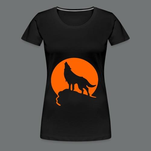 WolfHowl3 gif - Women's Premium T-Shirt