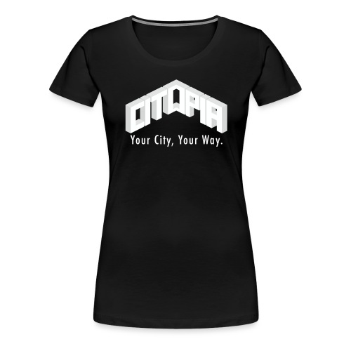 Logo with Slogan - Women's Premium T-Shirt