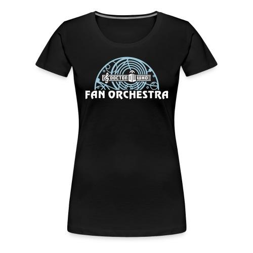 DWFO open arc white-txt - Women's Premium T-Shirt