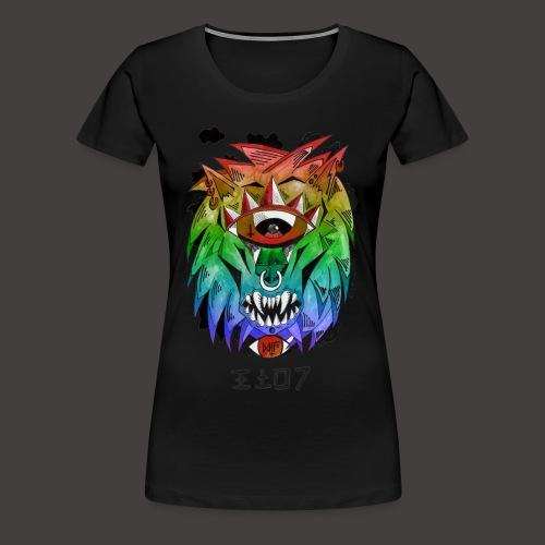 lion multi-color - T-shirt Premium Femme