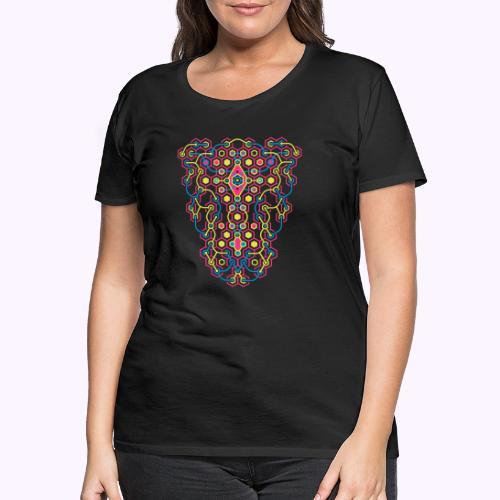 Impresión delantera del laberinto de Cybertron - Camiseta premium mujer