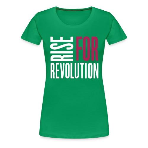 rise for rev logo - Women's Premium T-Shirt