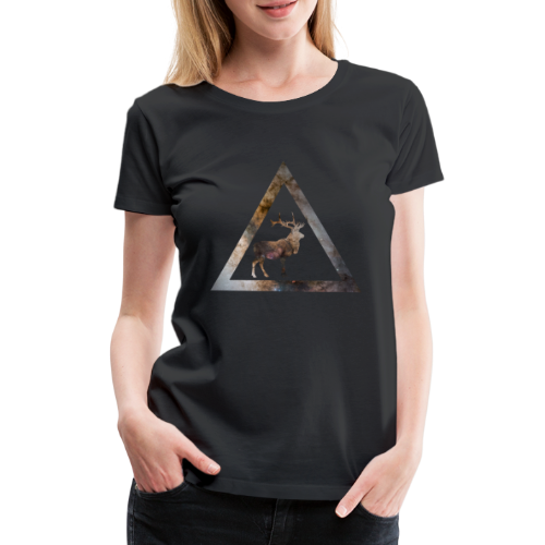 Galaxy Deer Geometry Triangle - Frauen Premium T-Shirt