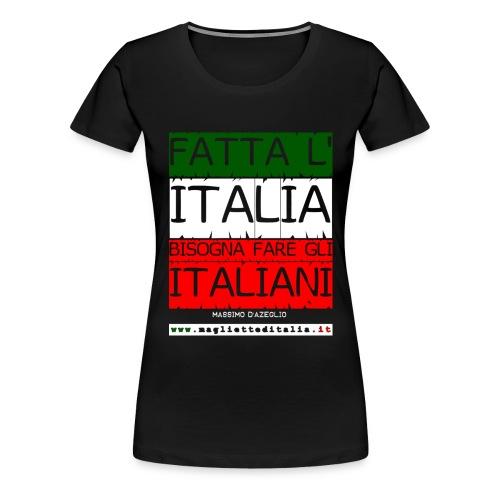 dazeglio fatta italia - Maglietta Premium da donna