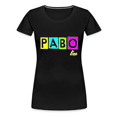 pabo line 4 color - Frauen Premium T-Shirt