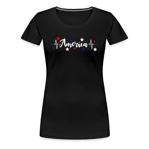 América 4th de Julio día de la Independencia E. U. - Camiseta premium mujer