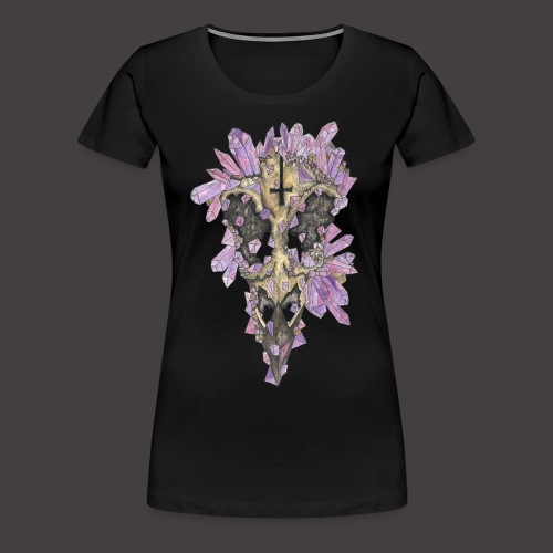 Le Corbeau de Cristal Couleur - T-shirt Premium Femme