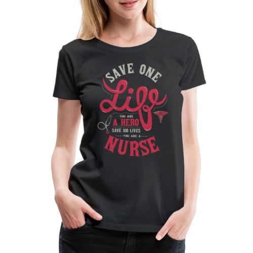 Vintage hero nurse - Naisten premium t-paita