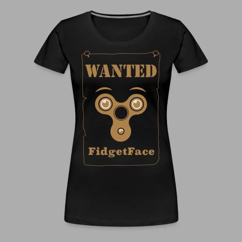 Fidget Spinner Face Wanted - Women's Premium T-Shirt