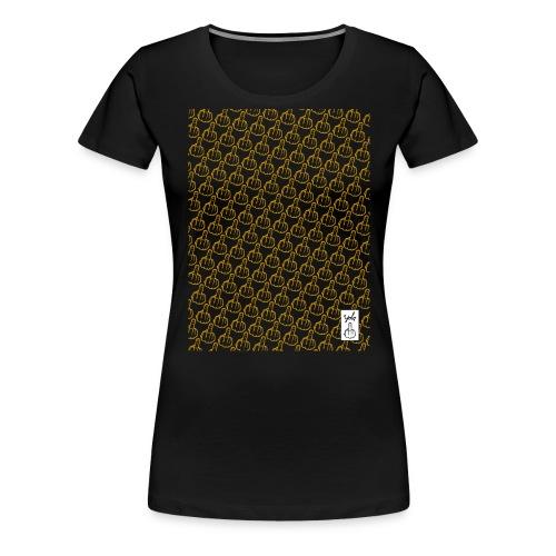 YOLO_TEE_TRAME_JAUNE - T-shirt Premium Femme
