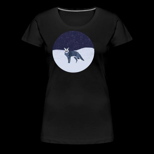 Blue fox - Naisten premium t-paita