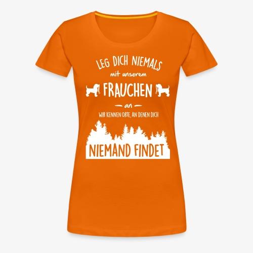 Unser Frauchen - Frauen Premium T-Shirt