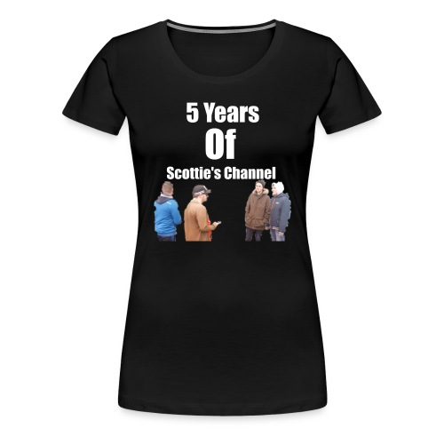 5 Years Of Scottie's Channel - Women's Premium T-Shirt