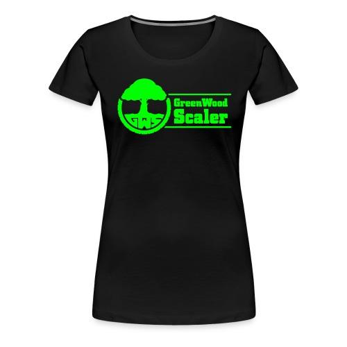 GreenWoodScaler logo mit schrift 03 - Frauen Premium T-Shirt