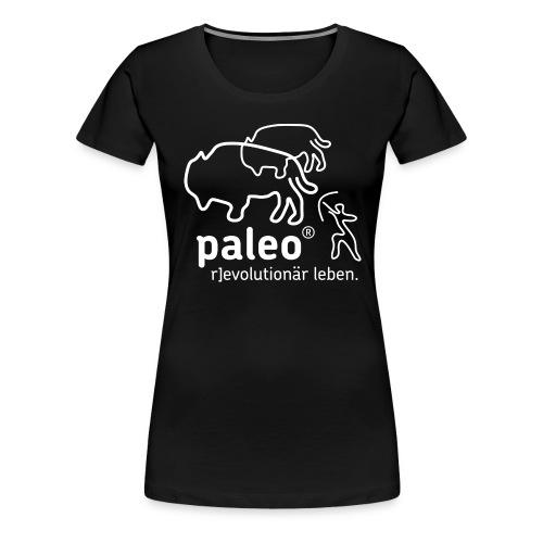 Paleo r evolutionär Illu - Frauen Premium T-Shirt