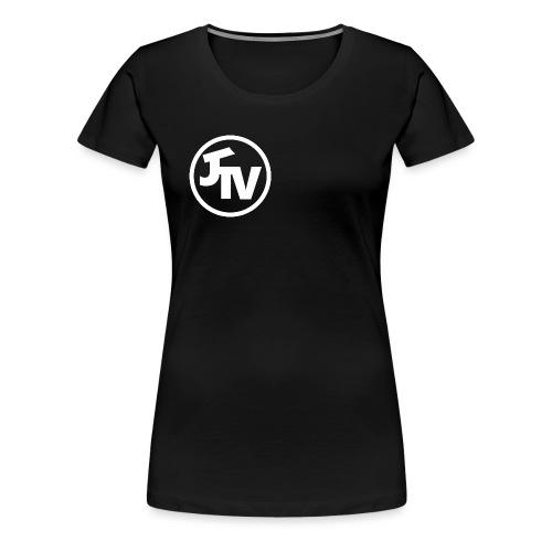 JonnyTeeVee Logo (White) - Women's Premium T-Shirt