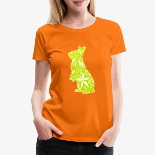 Flower Bunny Lime - Naisten premium t-paita