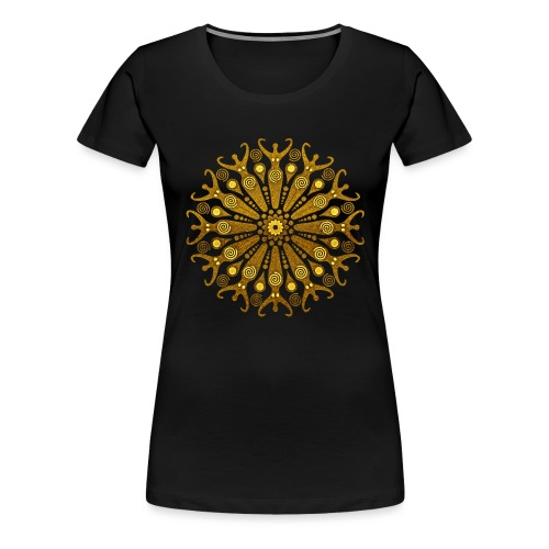 circle of fertility goddess gold - Frauen Premium T-Shirt