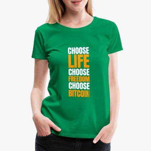 crypto bitcoin cryptocurrency cryptomonnaie - T-shirt Premium Femme