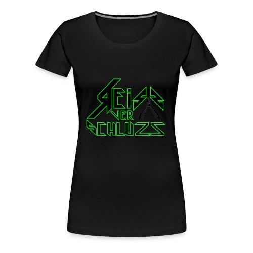Reissverschluzz Logo - Frauen Premium T-Shirt