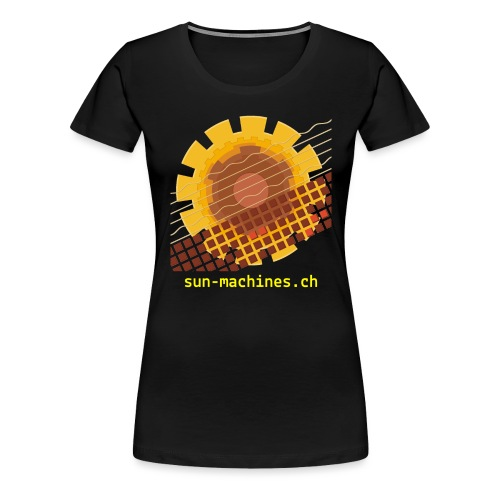Yellow Text Logo - Frauen Premium T-Shirt