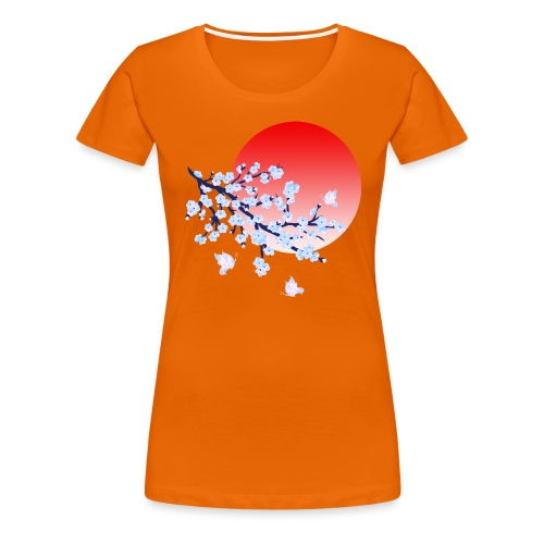 Cherry Blossom Festval Full Moon 4 - Frauen Premium T-Shirt