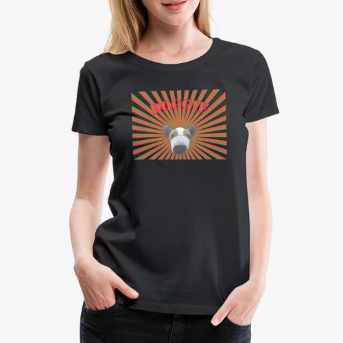 20110718 doggierays beschnitten 1layer - Frauen Premium T-Shirt