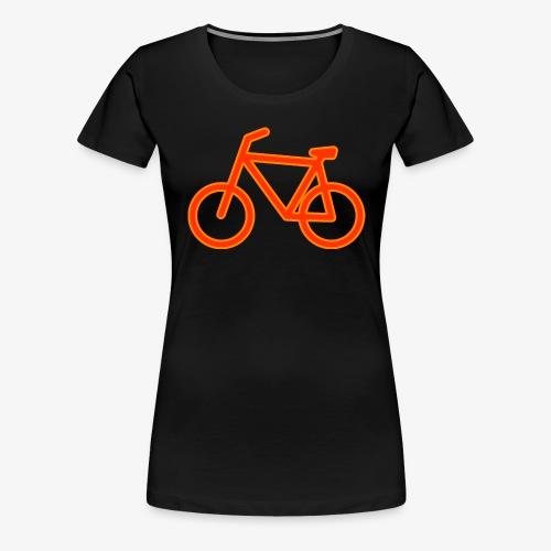Fahrrad Symbol Shirt Design Geschenk - Frauen Premium T-Shirt