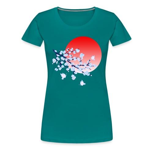 Cherry Blossom Festval Full Moon 4 - Frauen Premium T-Shirt