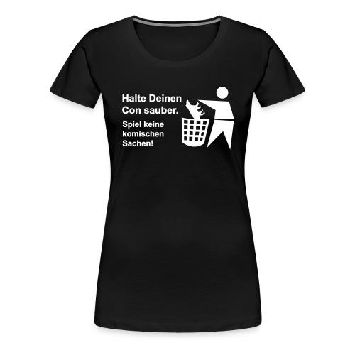 tapir muell shirt b - Frauen Premium T-Shirt