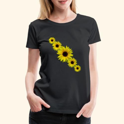 Sonnenblume, Sonnenblumen, Blumen - Frauen Premium T-Shirt