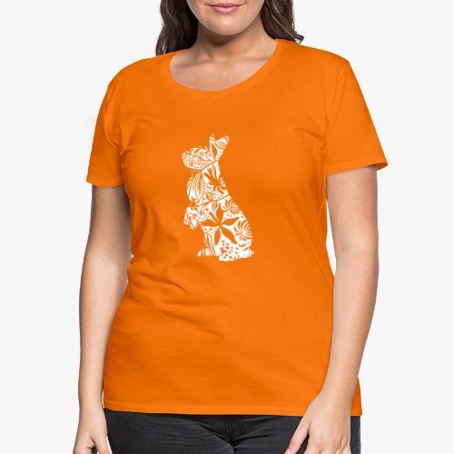 FlowerBunny - Naisten premium t-paita