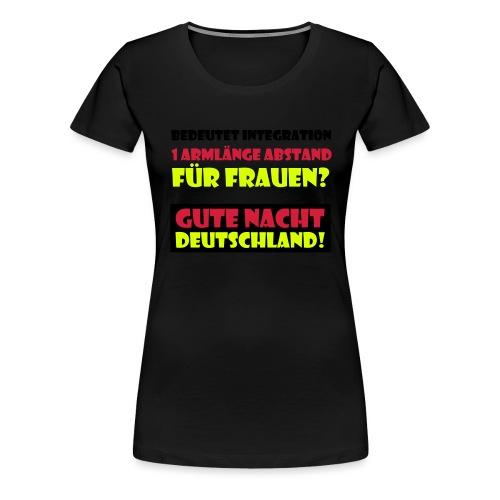 Armlänge Abstand - Frauen Premium T-Shirt