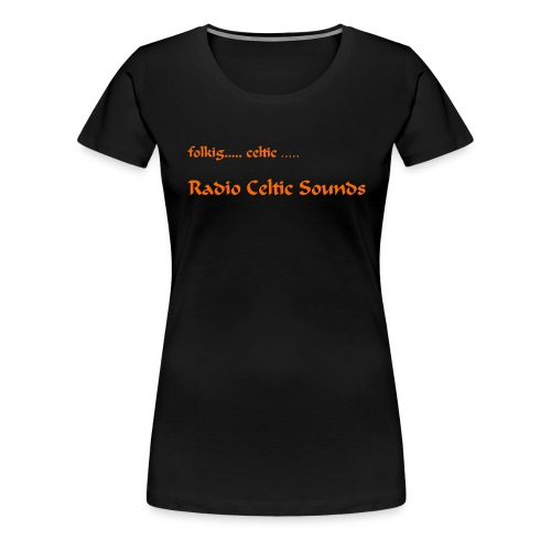 Shirt orange Schrift jpg - Frauen Premium T-Shirt