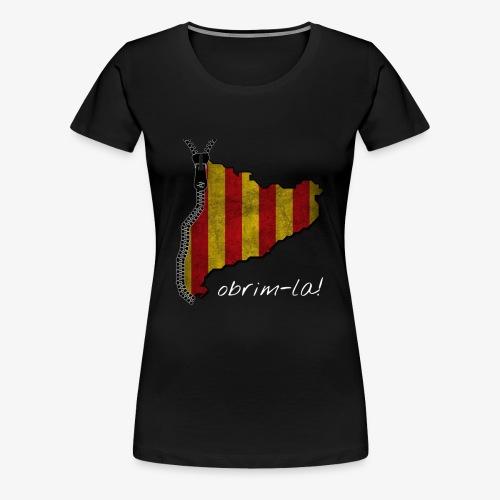 catalunyacremallerablancg - Camiseta premium mujer
